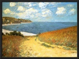 Path Through the Corn at Pourville, 1882 Posters by Claude Monet
