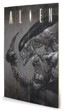 Alien - Head on Tail Znak drewniany