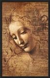 Leonardo Da Vinci (Female Head, La Scapigliata) Art Poster Print Art Poster Print Art