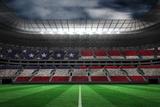 Digitally Generated American National Flag against Large Football Stadium Photographic Print by Wavebreak Media Ltd