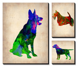Watercolor Dogs Posters by  NaxArt