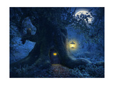 Tree Home in the Magic Forest Posters by  PetarPaunchev