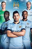 Manchester City - Players 14/15 Kunstdrucke