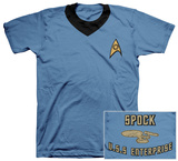 Star Trek - Spock Uniform Costume Tee T-shirts