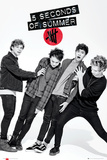 5 Seconds of Summer - Lean Affiches