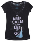 Juniors: Frozen - Keep Calm and Let it Go T-shirts