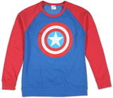 Crew Neck: Captain America - Color Block T-Shirt