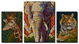 Safari Creatures Paper Mosaic Art by  Lantern Press