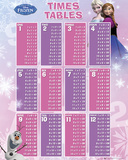 Frozen - Times Table Plakater