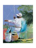Sisters Fishing II Giclee Print by Jane Slivka
