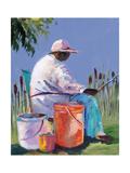 Sisters Fishing I Giclee Print by Jane Slivka