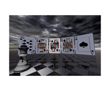 Queen Of Spades Photographic Print by ML Walker