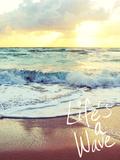 Life's a Wave Fotografie-Druck von Gail Peck