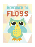 Remember to Floss Premium Giclee Print by  SD Graphics Studio