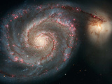 Out of This Whirl: the Whirlpool Galaxy M51 and Companion Galaxy Space Photo Art Poster Print Art