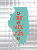 Home Is Where The Heart Is - Illinois Prints