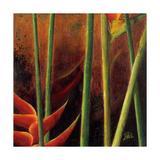 Heliconias En Naranja I Reproduction procédé giclée par Patricia Quintero-Pinto