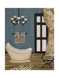 Blue Beach Bath III Premium Giclee Print by Gina Ritter