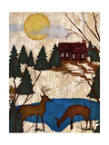 Cabin in the Woods I Giclee Print by Nicholas Biscardi