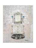 Antique Mirrored Bath I Premium Giclée-tryk af Tiffany Hakimipour