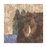 Lodge Bear Giclee Print by Nicholas Biscardi