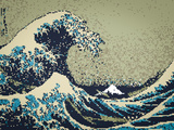 8-Bit Art Great Wave Photo