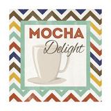 Chevron Coffee IV Premium Giclee Print by  SD Graphics Studio