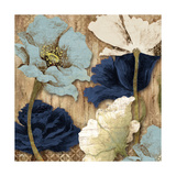 Blue Joyful Poppies II Premium Giclee Print by Elizabeth Medley