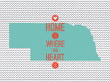 Home Is Where The Heart Is - Nebraska Posters