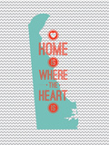 Home Is Where The Heart Is - Delaware Prints