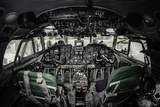 Inside of Airplane Cockpit Photographic Print by  amok
