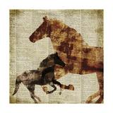 Horses II Giclee Print by Dan Meneely