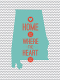 Home Is Where The Heart Is - Alabama Prints