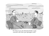 """""""It's O.K. for now, but ultimately I'd like to work somewhere other than a…"""" - New Yorker Cartoon Premium Giclee Print by Peter C. Vey"""