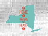 Home Is Where The Heart Is - New York Posters