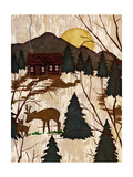 Cabin in the Woods II Premium Giclee Print by Nicholas Biscardi