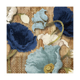 Blue Joyful Poppies I Giclee Print by Elizabeth Medley