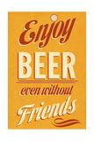 Enjoy Beer Giclee Print