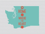 Home Is Where The Heart Is - Washington Prints