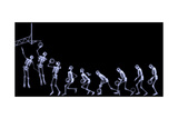 Xray of Human Skeleton Playing Basketball Sztuka autor riccardocova