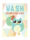 Wash Behind Your Ears Premium Giclee Print by  SD Graphics Studio