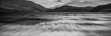 Long Exposure Panorama Landscape of Stormy Sky and Mountains over Lake in Black and White Prints by  Veneratio