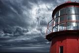 Lighthouse against  Stormy Sky. Print by NejroN Photo