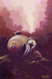 A Painting of a Hermit Crab Giclee Print by William H. Crowder