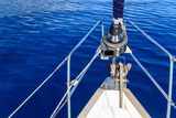 Bow of Sailing Boat / Yacht with Blue Sea Photographic Print by  Zechal