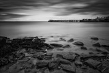 Long Exposure Black and White Seascape Landscape during Dramatic Evening in Winter Prints by  Veneratio