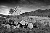 Stone Mountain Church Black & White Photographic Print by  xbrchx