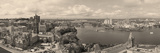 Ottawa Cityscape Panorama in the Day over River with Historical Architecture Black and White. Poster by Songquan Deng