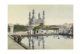 Locals Admire the Reflection of Minarets in a Baptismal Pool Giclee Print by H.M. Herget