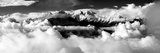 Black and White Panoramatic View from Langtang to Ganesh Himal Photographic Print by Daniel Prudek